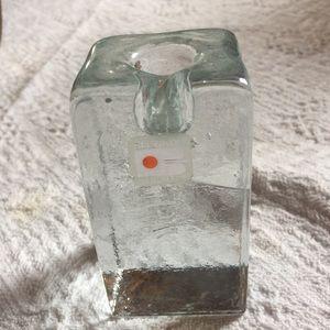 Vintage Blenko candlestick ice cube